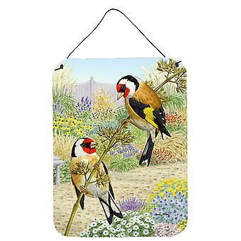Caroline'S Treasures European Goldfinches Wall Or Door Hanging Prints Asa2103Ds1216, 16Hx12W, Multicolor