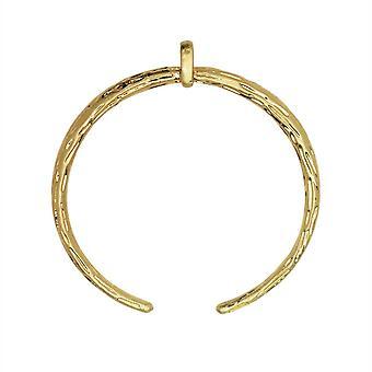 Zola Elements Colgante, Delicado Grabado Crescent Focal, 33x31mm, 1 Pieza, Tono Dorado Satinado