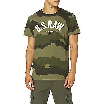 G-STAR RAW Graphic 13 Round Neck T-Shirt, Multicolored (Dk Shamrock/A SF A Lt Ao A695), XX-Small Men