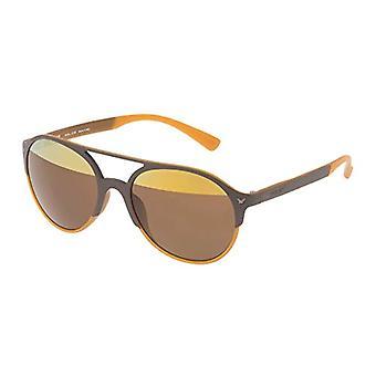Police SPL163V556L2H Sonnenbrille, Braun (Marr n), 55.0 Unisex-Erwachsene