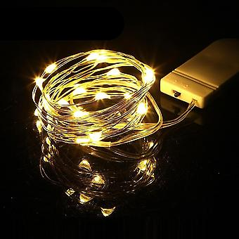 Mini Led String Light Silver Wire Fairy Lights For Garland, Home, Christmas