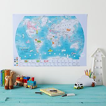 Doodle Världskarta (papper)