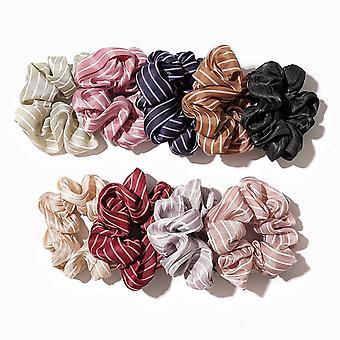 Pruhované vlasové pásiky pre ženy alebo dievčatá vlasové kravaty