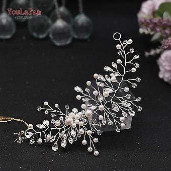 Youlapan Hp295 Flower Headwear Wedding Headband For Bride Crystal Pearls Women