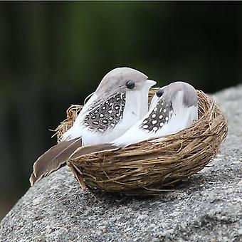 Kunstmatige gevederde vogels & nest & ei gazon kunst ornamenten