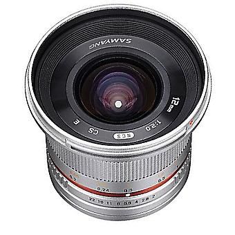 Samyang sy12m-fx-sil 12mm f2.0 ultra wide angle lens for fujifilm x-mount cam...