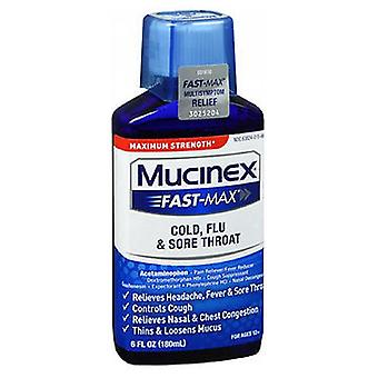 Mucinex Mucinex Fast-Max Adult Liquid For Cold Flu And Sore Throat, 6 oz