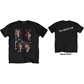 The Beatles - Valkoinen albumi Faces Miesten keskikokoinen T-paita - Musta