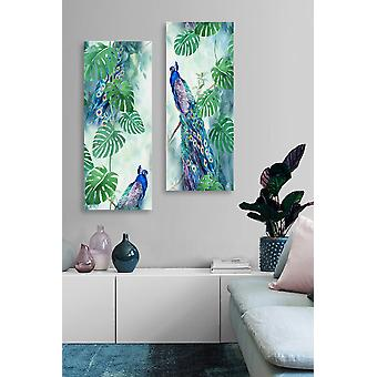 MDF0092 Flerfärgad dekorativ MDF-målning (2 stycken)