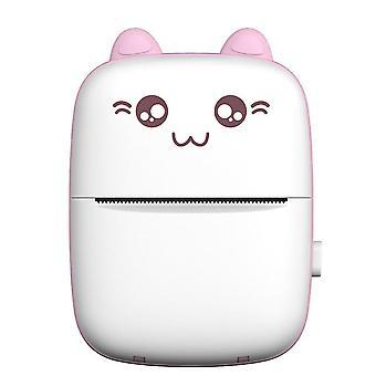 Mini Pocket Thermal Printer Bluetooth Mobile Phone Photos Label Printing Machine(Pink)