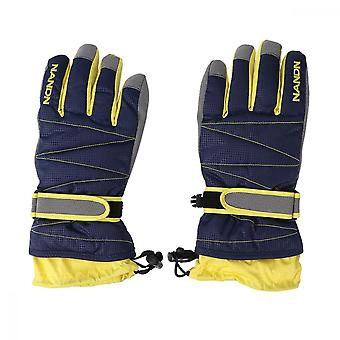 Cold Weather Gloves Super Warm Winter Snow Skiing Gloves Windproof Waterproof Gloves With Long Cuff For Snowboarding Riding (blue, Xl)