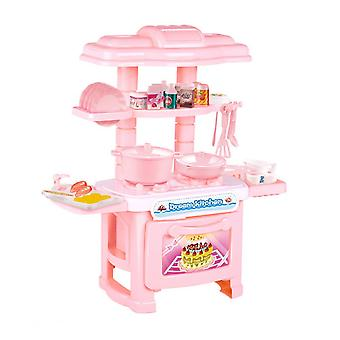 Children Simulation Ccooking Kitchen Utensils Tableware Play House Kitchen Toys Education Gifts (random Color)
