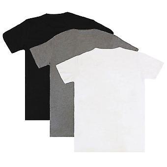 Diesel Umtee Randal Rundhals 3 Pack T-Shirt - schwarz/grau/weiß