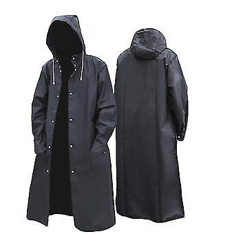 Černá móda Dospělý vodotěsný dlouhý pláštěnky Ženy Muži Pláštěnku s kapucí pro venkovní turistiku
