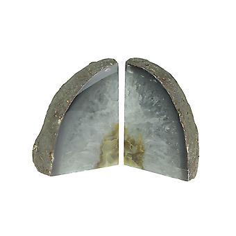 Светло-коричневые природные кристалл бразильский агат Geode форзацы 4-7 фунтов
