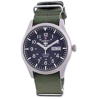 Seiko 5 Спортивный синий циферблат Автоматические Snzg11k1-var-nato9 100m Мужские часы