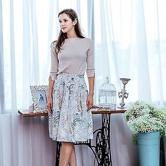 Woman Floral Midi Skirt