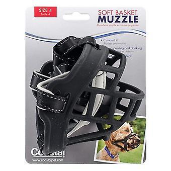 Kustdjur mjuk korg nosparti för hundar svart - Storlek 4