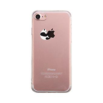 Panda kramas Apple Transparent telefon fall söt tydlig Phonecase