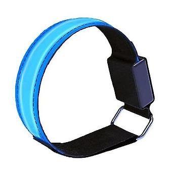 Led Arm With Light Luminous Sports Wristband Dark Safety Running Equipment(Blue)