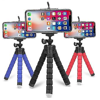 Motor vehicle video monitor mounts flexible selfie tripod holder for phones and cameras black