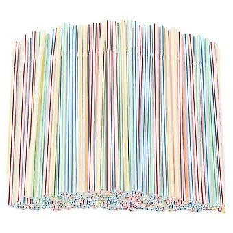 Гибкие пластиковые соломы полосатые одноразовые