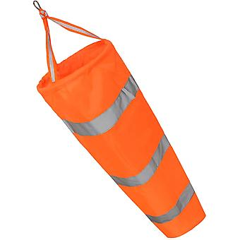 Windsock avec ceinture réfléchissante - Nylon résistant aux intempéries pour la mesure du vent extérieur 80cm