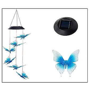 Swotgdoby solar vlinder verlichting wind gong lamp, werf decoraties zonne-licht mobiel