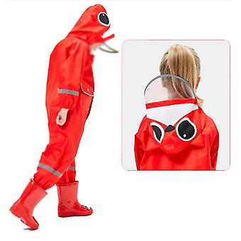 Kids Waterproof Rain Suit Relective Cartoon Coverall Rain Coat