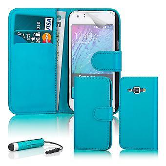 Buchen Sie Brieftasche Case + Stift für Samsung Galaxy Trend 2 Lite - Light Blue