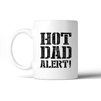 Hete vader Alert humoristische Design koffiemok geestig giftideeën voor papa
