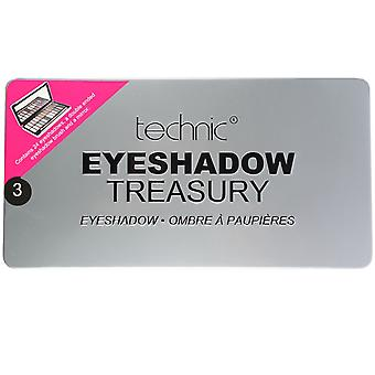 Technic Treasury 24 Shade Eyeshadow Palette Silver