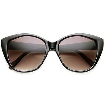 Womens surdimensionné lunettes de soleil ovales Mod Glam haute couture