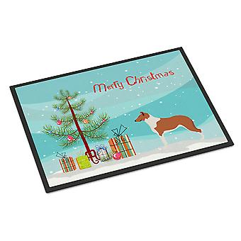 Smooth Collie Christmas Indoor or Outdoor Mat 18x27
