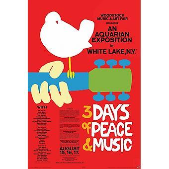 Woodstock - Concert Poster Print Poster Poster Print