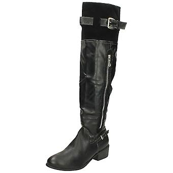Mesdames Barricci Zip Knee High bottes L9287