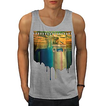 Travel Nowhere Men GreyTank Top | Wellcoda
