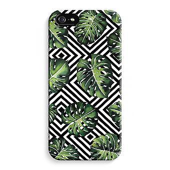 iPhone 5C koko Tulosta tapauksessa (kiiltävä) - geometrinen jungle