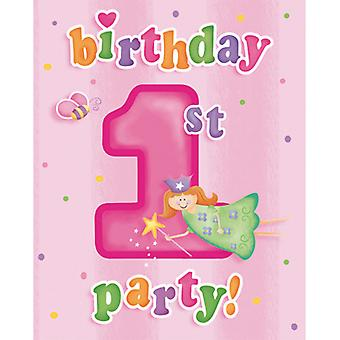 Creative Party Fun At 1 Birthday Invitations (Pack Of 8)