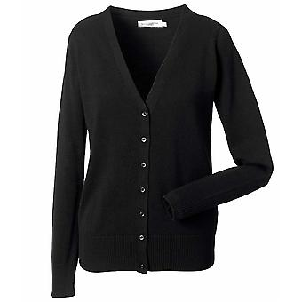 Russell Collection Womens V Neck Knitted Cardigan