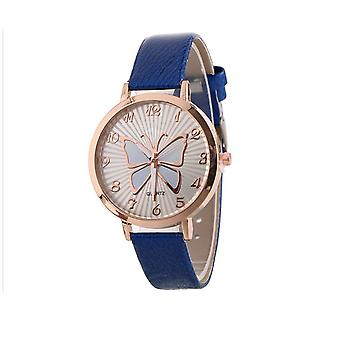 Classy Rose Gold Butterfly Watch BLUE Love Time UV