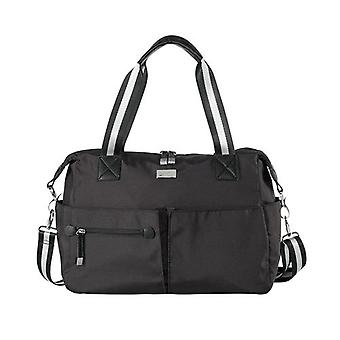 Isoki Pocket Bag Lennox Black Nylon- Changing Bag