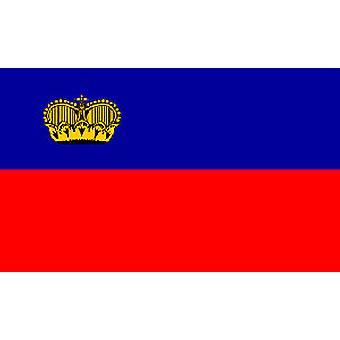 Liechtenstein vlag 5 ft x 3 ft met oogjes voor verkeerd-om