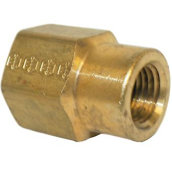 Big A Service Line 3-21964 Brass Hex Reducer coupling 3/8