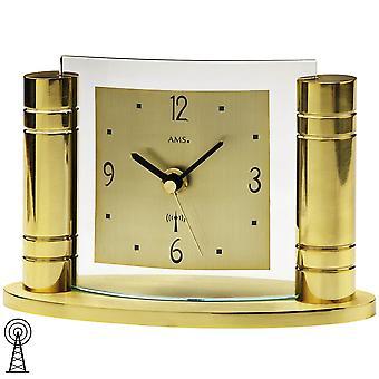 Pulten klokkeradio klokke tabellen klokke gull-farget metall kropp aluminium ringe