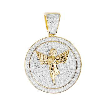 Prime Bling - Angel or médaillon en argent sterling 925