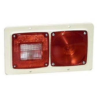 Grote 51042 White/Red Versalite Pod Light (Double-Pod, Recessed Mount)
