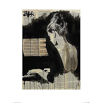 Loui Jover Kunstdruck Her Sonata  Kleinformat