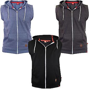 Duke D555 Mens Blake Kingsize Sleeveless Gilet Hoodie Hoody Zipped Sweater Vest