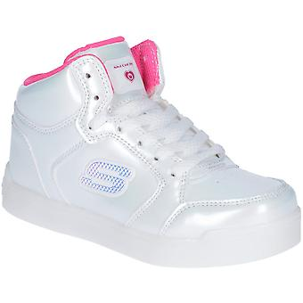 Skechers Girls Pro Pearl Princess Light Up High Top Trainers